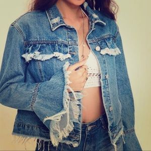 Misguided Extreme Frill Denim Jacket